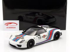 Porsche 918 Spyder Weissach Package Martini anno di costruzione 2013 bianco 1:18 AUTOart