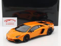 Lamborghini Aventador LP750-4 SV Bouwjaar 2015 oranje metalen 1:18 AUTOart