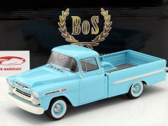 Chevrolet Apache Pickup Bouwjaar 1959 lichtblauw 1:18 BoS-Models