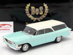 Chrysler Newport Town & Country Wagon Baujahr 1962 helltürkis / weiß 1:18 BoS-Models