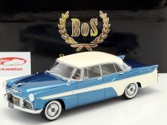 Desoto Firedome 4-Door Seville Baujahr 1956 blau metallic / weiß 1:18 BoS-Models