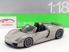 Porsche 918 Spyder Cabriolet gray metallic 1:18 Welly
