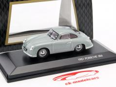 Porsche 356 Bouwjaar 1951 zilver metalen 1:43 LuckyDieCast