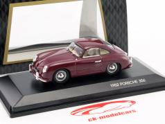 Porsche 356 Bouwjaar 1952 Bordeaux 1:43 LuckyDieCast