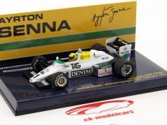 Ayrton Senna Williams Ford FW08C #1 Donington Park Test fórmula 1 1983 1:43 Minichamps