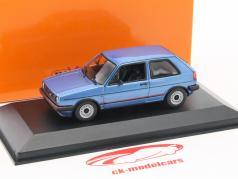 Volkswagen VW Golf II GTI Opførselsår 1985 blå metallisk 1:43 Minichamps