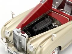 Bentley S2 year 1960 silver / dark red 1:18 Minichamps