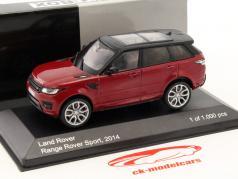 Land Rover Range Rover Sport Baujahr 2014 rot / schwarz 1:43 WhiteBox