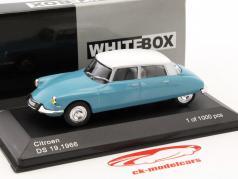 Citroen DS 19 Baujahr 1966 hellblau / weiß 1:43 WhiteBox