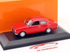 Ford Escort I LHD ano de construção 1974 vermelho metálico 1:43 Minichamps