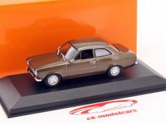 Ford Escort I LHD ano de construção 1974 marrom metálico 1:43 Minichamps