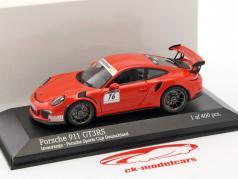 Porsche 911 (991) GT3 RS #16 Porsche Sports Cup Promo Car lave orange 1:43 Minichamps