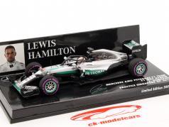 L. Hamilton Mercedes F1 W07 Hybrid #44 Halo Testing Singapour GP F1 2016 1:43 Minichamps