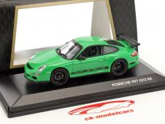 Porsche 911 997 GT3 RS groen / zwart 1:43 Lucky Diecast