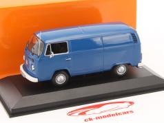 Volkswagen VW T2b Van Opførselsår 1972 blå 1:43 Minichamps