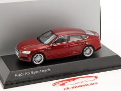 Audi A5 Sportback year 2017 matador red 1:43 Spark