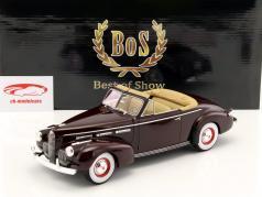 LaSalle Series 50 Convertible Coupe Baujahr 1940 dunkelrot 1:18 BoS-Models
