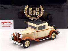 Dodge Eight DG Coupe Baujahr 1931 beige / hellbraun 1:18 BoS-Models