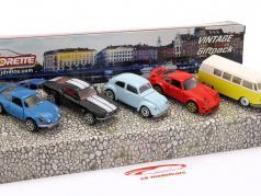 5-Car Set Vintage Giftpack 1:64 Majorette