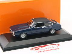 Ford Capri II ano de construção 1974 azul escuro 1:43 Minichamps