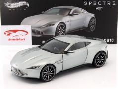Aston Martin DB10 James Bond Spectre 2015 sølv 1:18 HotWheels Elite