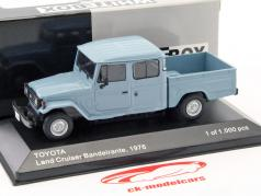 Toyota Land Cruiser Bandeirante Pick up ano de construção 1976 azul claro 1:43 WhiteBox