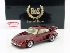 Porsche 911 Turbo Gemballa Avalanche year 1986 dark red metallic 1:18 BoS-Models