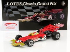 Jochen Rindt Lotus 72C #5 champion du monde grande-Bretagne GP formule 1 1970 1:18 Quartzo