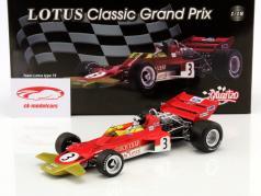 Jochen Rindt Lotus 72 #3 campeón del mundo España GP fórmula 1 1970 1:18 Quartzo
