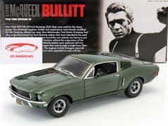 Filme Carro Ford Mustang GT Bullitt - Steve McQueen 1968 1:18 Greenlight