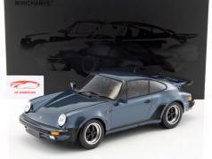 Porsche 911 (930) Turbo ano de construção 1977 cinza azul metálico 1:12 Minichamps