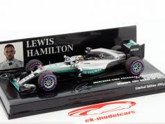 Lewis Hamilton Mercedes F1 W07 Hybrid #44 gagnant Abu Dhabi GP formule 1 2016 1:43 Minichamps