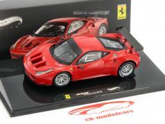 Ferrari 458 GT2 Plain versão lançamento corpo vermelho / vermelho HotWheels 1:43 Elite