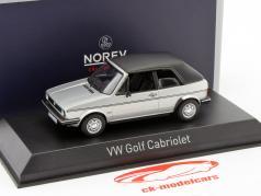 Volkswagen VW Golf Cabriolet Opførselsår 1981 sølv metallisk 1:43 Norev