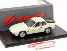 Porsche 924S year 1988 white 1:43 Spark