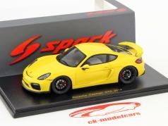 Porsche Cayman GT4 year 2016 yellow 1:43 Spark