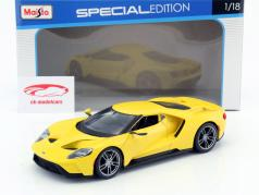 Ford GT año de construcción 2017 amarillo 1:18 Maisto