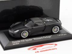 Porsche 918 Spyder Weissach-Package an 2015 tapis noir 1:43 Minichamps