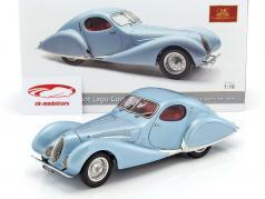Talbot Lago Coupe T150 C-SS Teardrop Figoni & Falaschi Bouwjaar 1937-1939 lichtblauw metalen 1:18 CMC