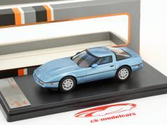 Chevrolet Corvette C4 year 1984 blue metallic 1:43 Premium X