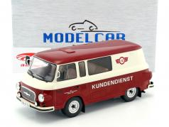 Barkas B1000 Halbbus Simson Kundendienst rot / creme weiß 1:18 Model Car Group