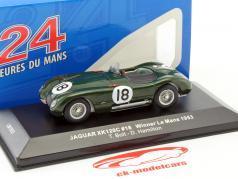 Jaguar C-Type #18 gagnant 24h LeMans 1953 Bolt, Hamilton 1:43 Ixo