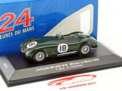 Jaguar C-Type #18 ganador 24h LeMans 1953 Bolt, Hamilton 1:43 Ixo