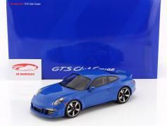 Porsche 911 (991) GTS Club Coupe Anno 2015 blu con Vetrina 1:18 GT-SPIRIT