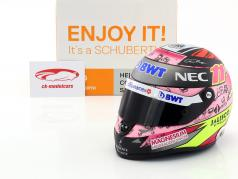 Sergio Perez Force India VJM10 fórmula 1 2017 casco 1:2 Schuberth
