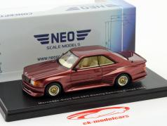 Mercedes-Benz 500 SEC König Specials Coupe year 1985 dark red metallic 1:43 Neo