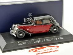 Citroen 11 Legere Coupe de Ville year 1935 dark red / black 1:43 Norev