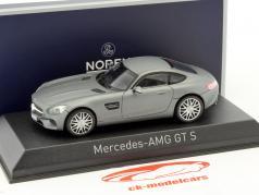 Mercedes-Benz AMG GTS año 2015 estera gris metálico 1:43 Norev