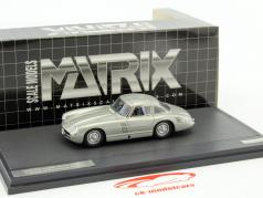 Mercedes-Benz 300SL Transaxle Prototype W194 year 1953 silver metallic 1:43 Matrix