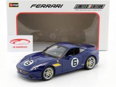 Ferrari California T #6 The Sunoco 70th Anniversary Collection blu 1:18 Bburago